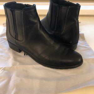 Stuart Weitzman Black Ankle Chelsea Boots